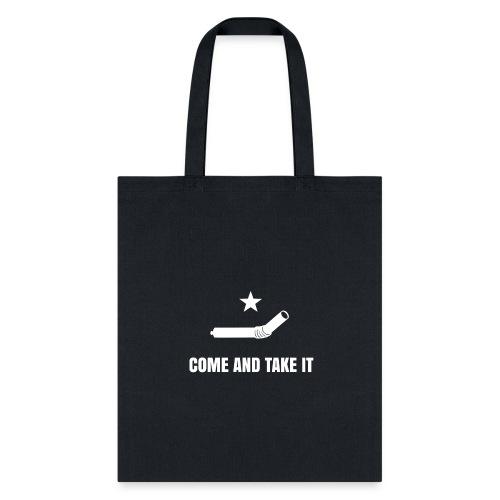 COME AND TAKE IT STRAW - WHITE - Tote Bag
