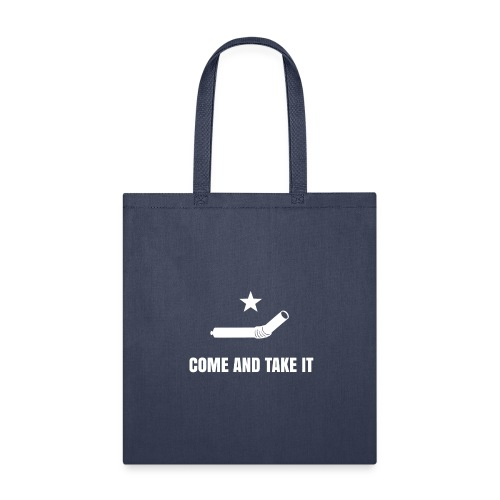 COME AND TAKE IT STRAW - WHITE - Tote Bag