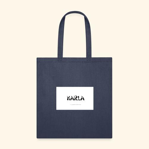 tattoo design name karla - Tote Bag