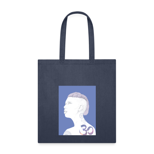 The Girl With The Om Tattoo - Tote Bag