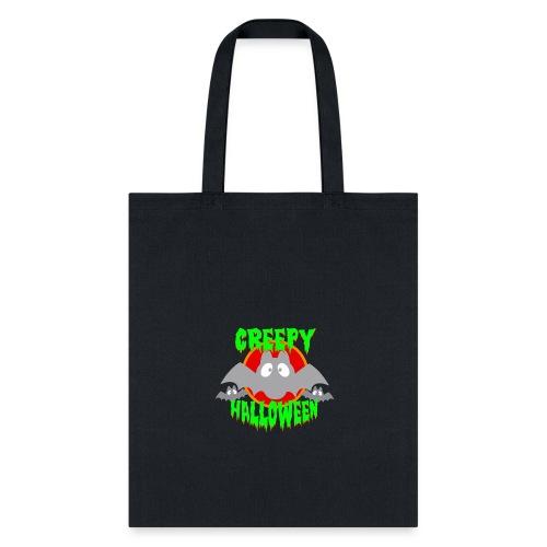 creepy Halloween bat Party - Tote Bag