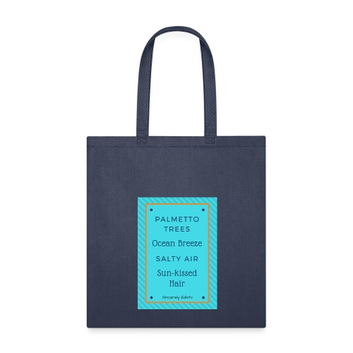 Palmetto Trees and Ocean Breeze - Tote Bag