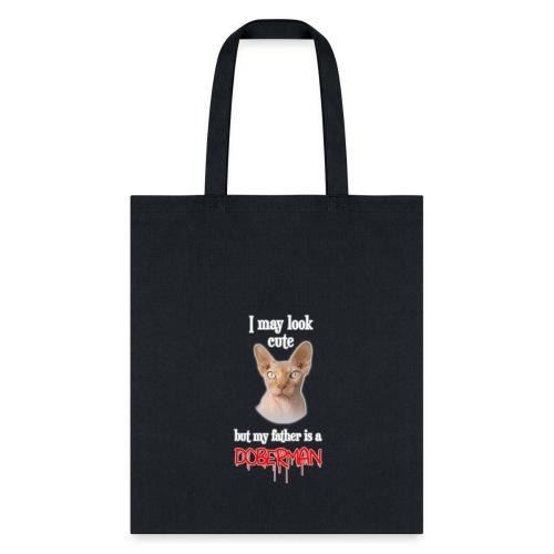 doberman cat - Tote Bag