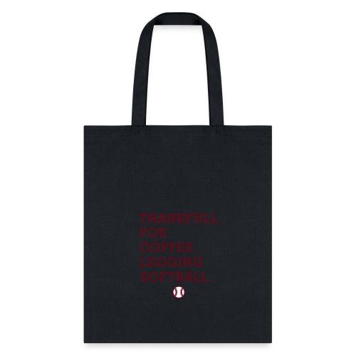 Coffee Legging Softball Lover - Tote Bag