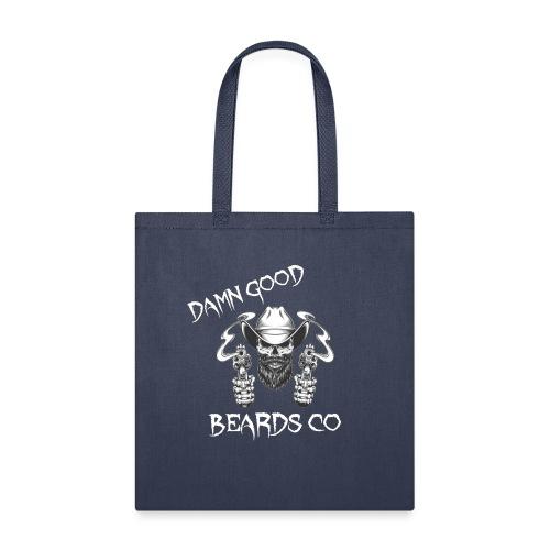DAMN GOOD BEARDS NEW LOGO WHITE - Tote Bag