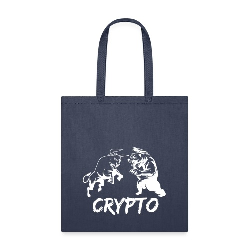CryptoBattle White - Tote Bag