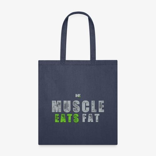 Muscle Eats Fat (Seahawks Gray) - Tote Bag