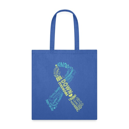 Down syndrome Ribbon Wordle - Tote Bag