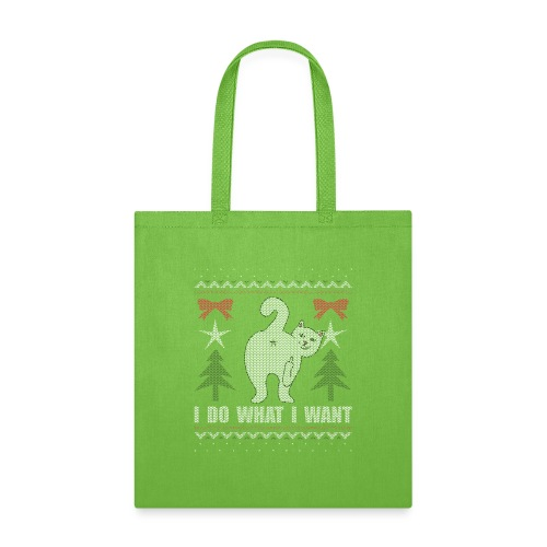 Ugly Christmas Sweater I Do What I Want Cat - Tote Bag