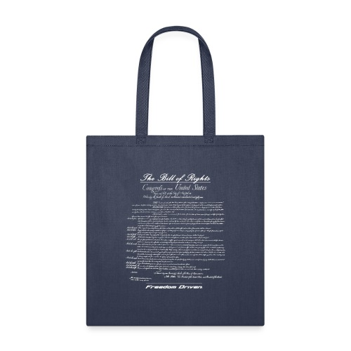 US Bill of Rights White Lettering - Tote Bag