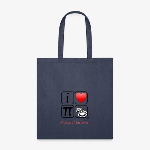 I love Pilates black and white - Tote Bag