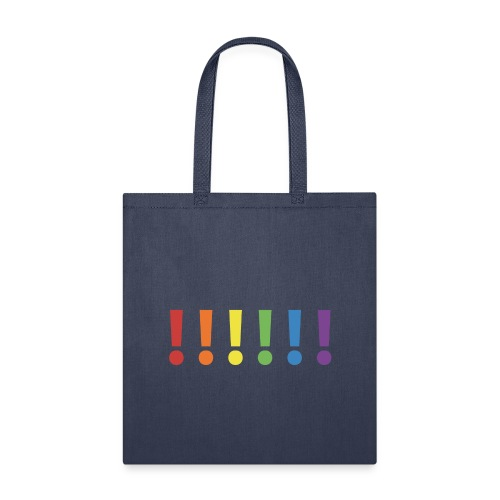 Pride Rainbow Exclamation Marks - Tote Bag