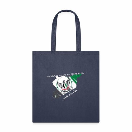free syria white font - Tote Bag