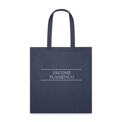 Jácome Flamenco - White Text Only - Tote Bag