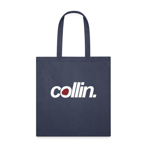 Collin. (White w/ Rose) - Tote Bag