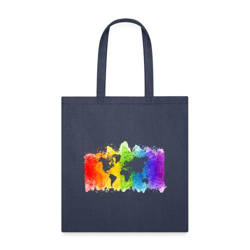 Pride Rainbow Map World - Tote Bag