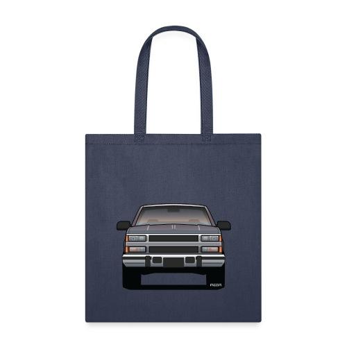 Design Icon: American Bowtie Silver Urban Truck - Tote Bag