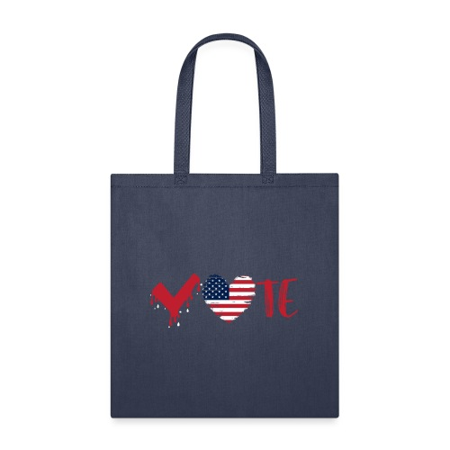 vote heart red - Tote Bag