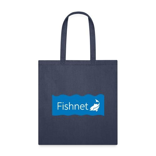 Fishnet (Blue & White Wave) - Tote Bag