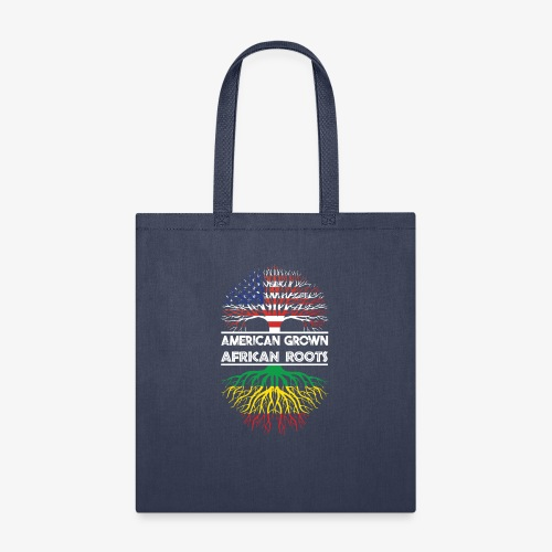 American Grown With African Roots T-Shirt - Tote Bag