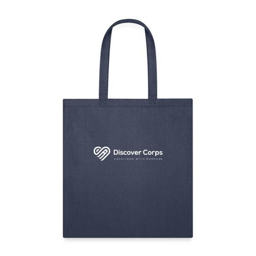 DiscoverCorp Logo Horizontal Rev High white - Tote Bag
