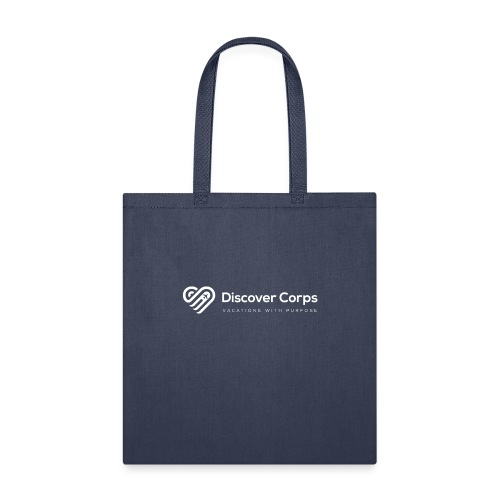 DiscoverCorp Logo Horizontal Rev High white - Tote Bag