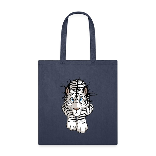 STUCK Tiger White (double-sided) - Tote Bag