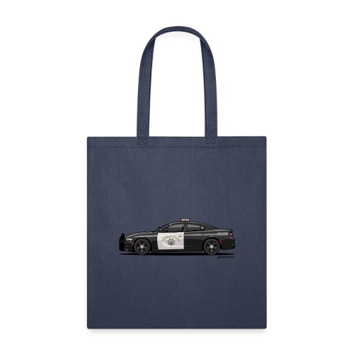California Highway Patrol Charger Police Car - Tote Bag