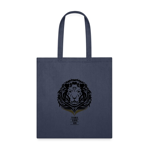 Lion Take life on - Tote Bag
