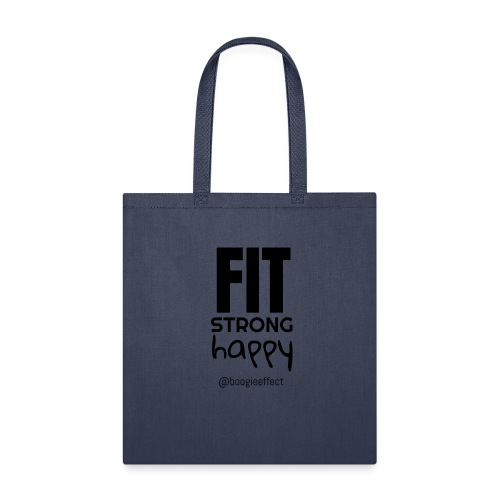 fit strong happy black - Tote Bag
