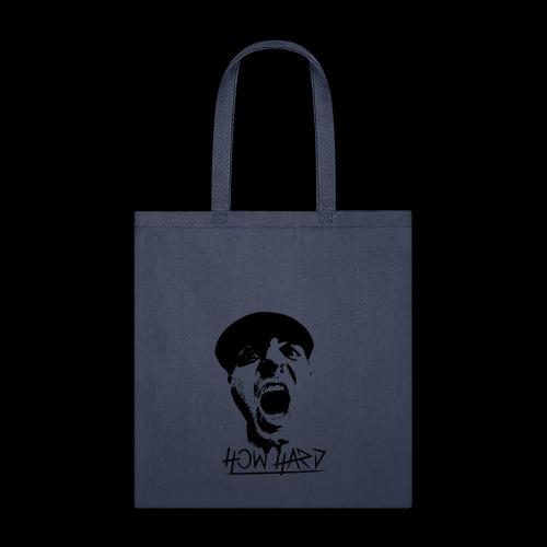 How Hard Scream Face & Logo - Tote Bag