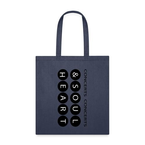Heart & Soul concerts text design 2021 flip - Tote Bag