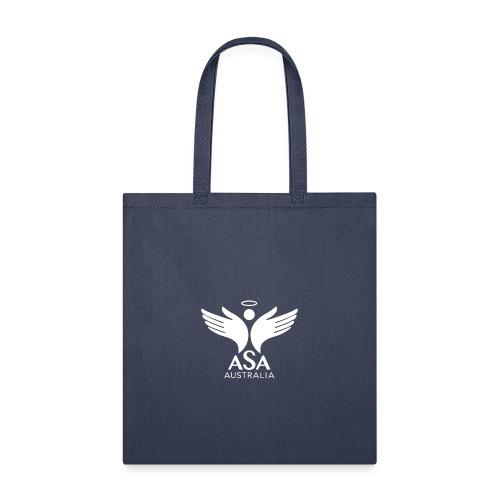 3459 Angelman Logo AUSTRALIA FA WHITE LR - Tote Bag