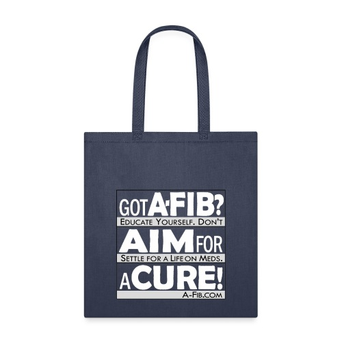 aim for a cure don t settle white - Tote Bag