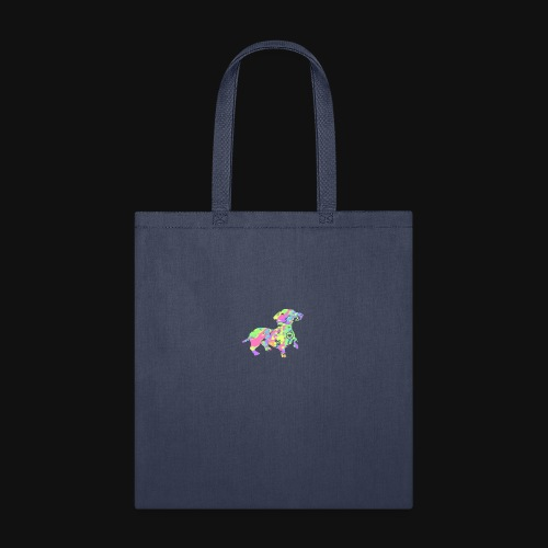 dachshund silhouette splatter - Tote Bag