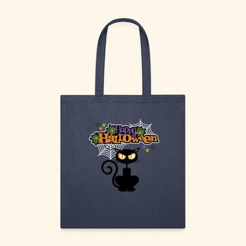happy holloween BLACCK CAT TEE - Tote Bag