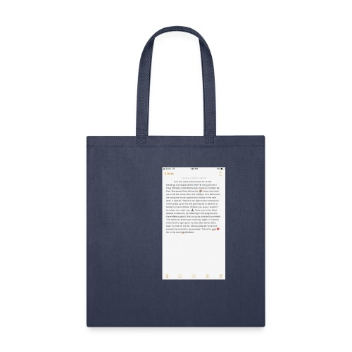 Text from a Football Commit - Tote Bag