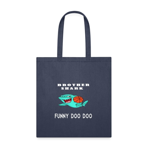 basketball shirts doo doo funny shark - Tote Bag