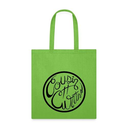 Cousin Curtiss Black Logo Merch - Tote Bag