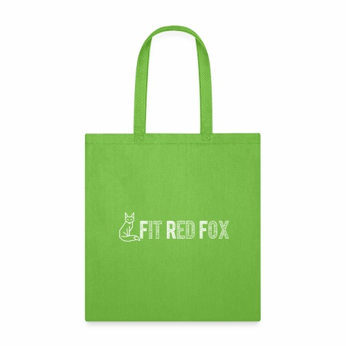 White Logo Fit Red Fox - Tote Bag