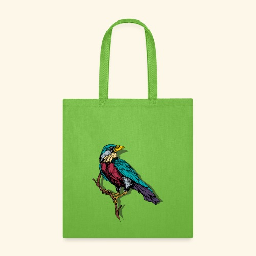 Colorful Bird Design - Tote Bag
