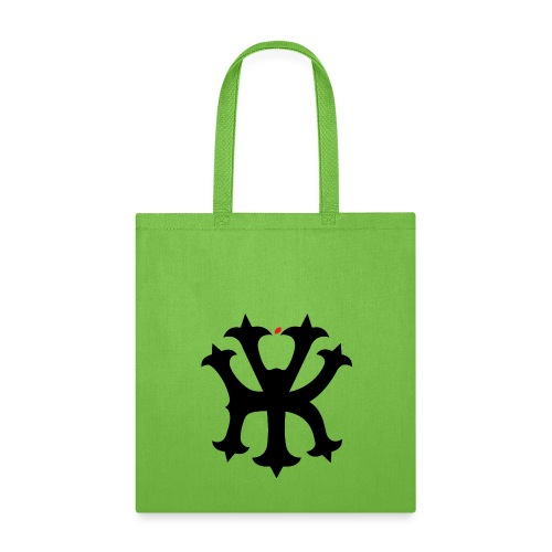 KREW YORK LOGO - BIG APPLE ALTERNATE DESIGN - RED - Tote Bag