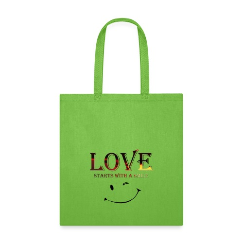 lOVE starts with a smille - Tote Bag