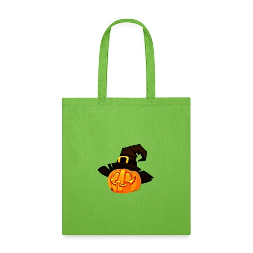 Funny Pumpkin lantern with a hat - Tote Bag