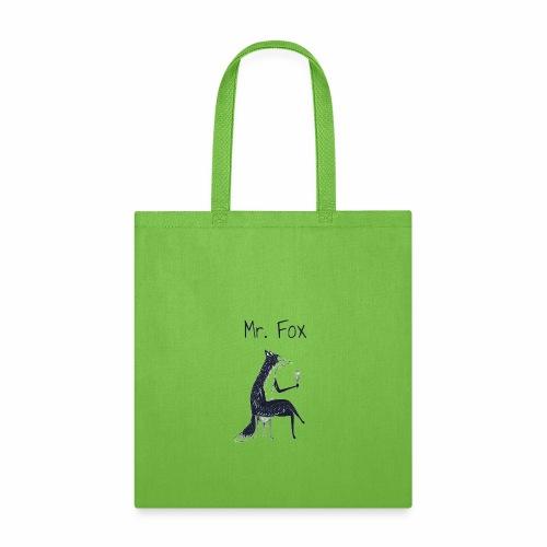 fox drinks vine - Tote Bag