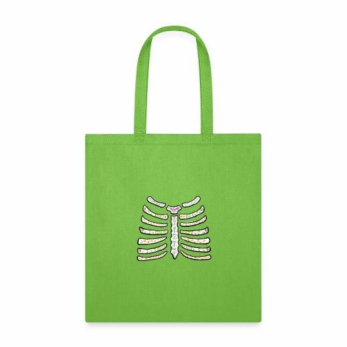 dia de muertos ribcage2 - Tote Bag