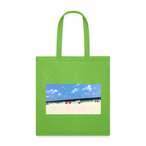 BEACH OF RED UMBRELLAS - Tote Bag
