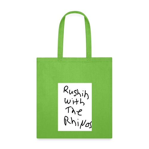 rushing with the rhino's - Tote Bag