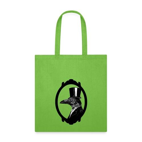 Raven in top hat - Tote Bag