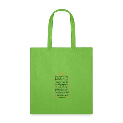Bible Verses - T-shirts 1 Corinthians 13:4:8 - Tote Bag